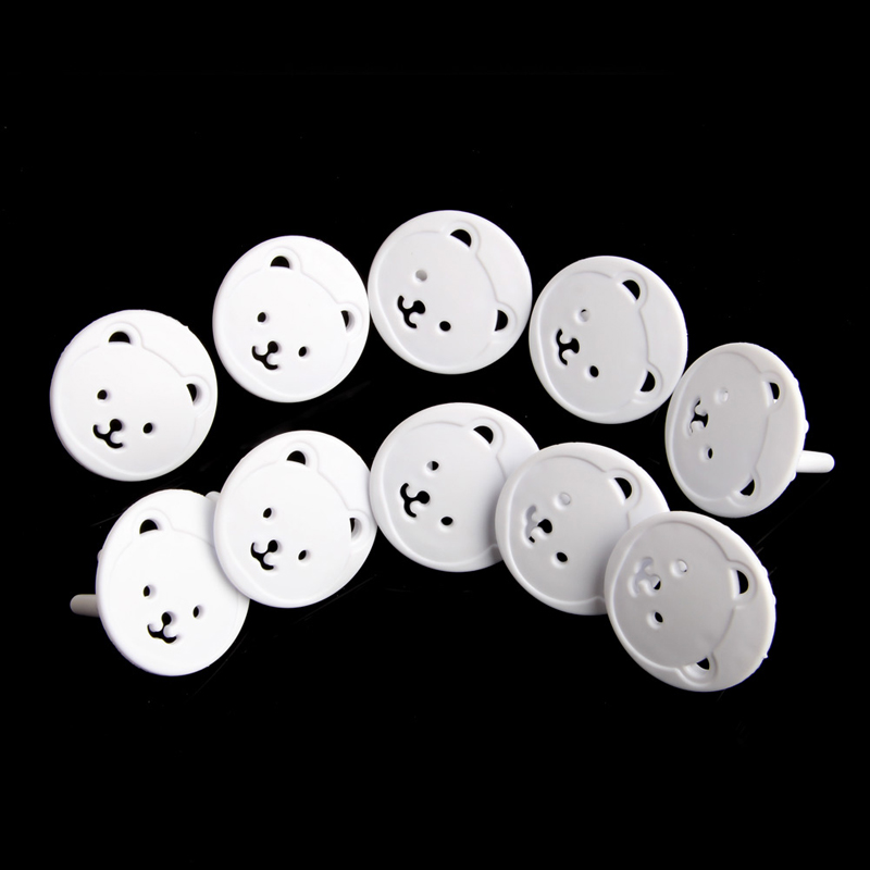 Thickened Round Head Baby Bear EU Power Socket Electrical Outlet For Kids Safety Guard Protection Anti Shock Plug Cover J75