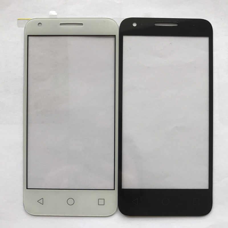 Siyah Alcatel One Touch Pixi 3 4.5 Için 4027D 4027X4027 A5017 5017E VF795 Ön Dış Cam Lens Onarım dokunmatik Ekran Dış Cam