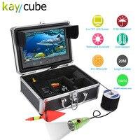 Kaycube 9 Inch Color Monitor 20M 1000tvl Underwater Fishing Video Camera Kit 6 LED Watherproof Aluminum Alloy Fish
