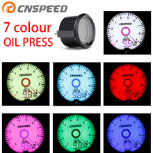 2 inch / 52mm liquid crystal 7 color virtual pointer display oil pressure gauge with Oil Filter Sandwich Plate Adapter