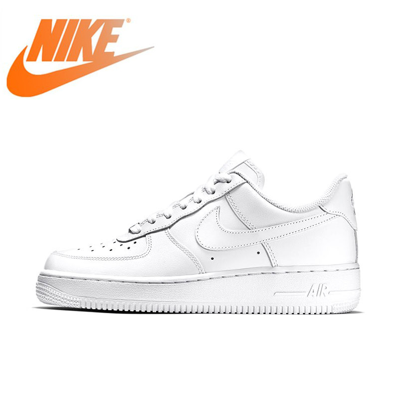 Original Authentic NIKE AIR FORCE Women's Skateboard Shoes Outdoor Sneakers Athletic Designer Footwear 2019 Arrival 315115-112(China)