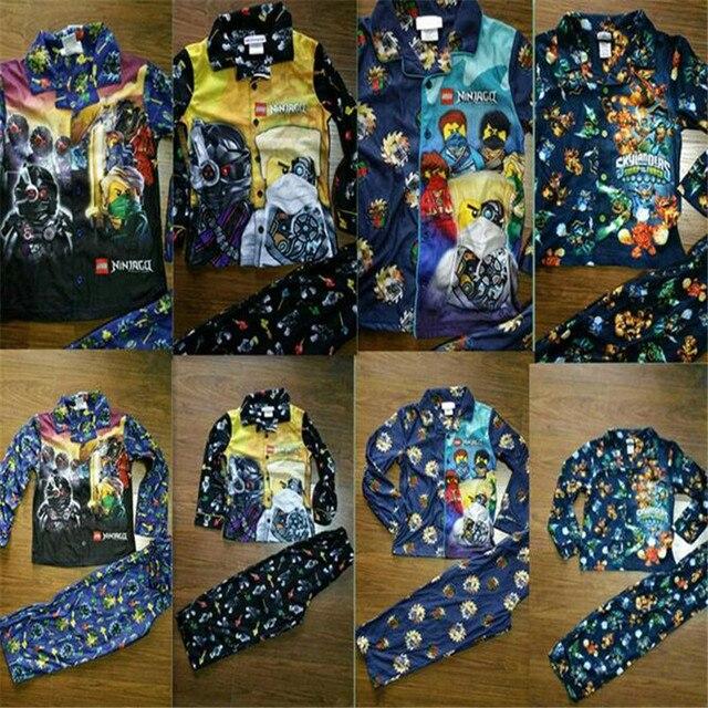 2017 New Boys Pajamas Set Children Clothing Set Shirt+Pants 2pcs/set Boys Clothes Kids Flannel Clothing Sleeping Wear Suit
