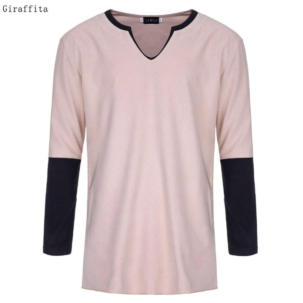 2017 Fashion Mens Slim Fit Long Sleeve T font b Shirts b font Stylish Luxury font