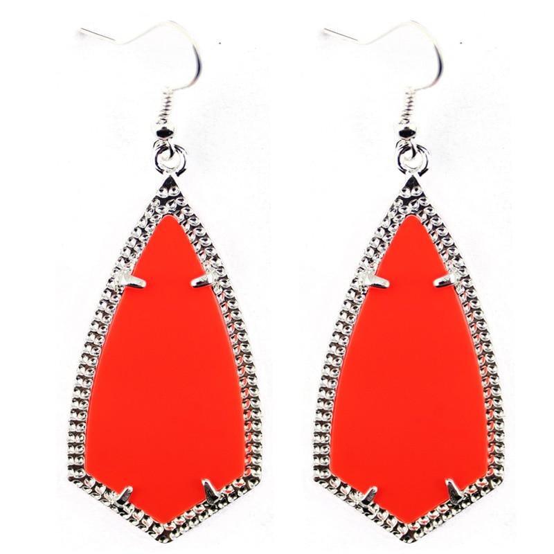 2016 Silver Tone New Brand Jewelry Kite Statement Drop Earrings for Women Fashion Jewelry