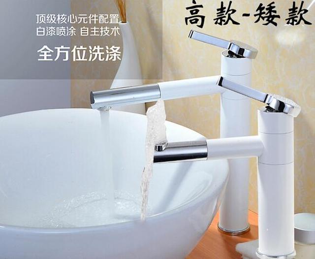Badkamer wastafel kraan messing mixer torneira banheiro hot en koude