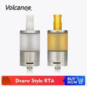Image 1 - Réservoir nain reconstructible en acier inoxydable de capacité du Style RTA 5ml de Volcanee Coppervape Dvarw MTL avec latomiseur de double poteau de flux dair dinsertion dafc