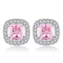 цена 100% 925 sterling silver fashion shiny cz zircon star ladies`stud earrings jewelry female Anti allergy drop shipping cheap gift в интернет-магазинах