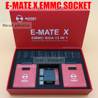 2018 E MATE X EMMC SOCKET E MATE PRO BOX EMMC BGA 13 IN 1 SUPPORT 100 136 168 153 169 162 186 221 529 254 Easy Jtag Plus Box