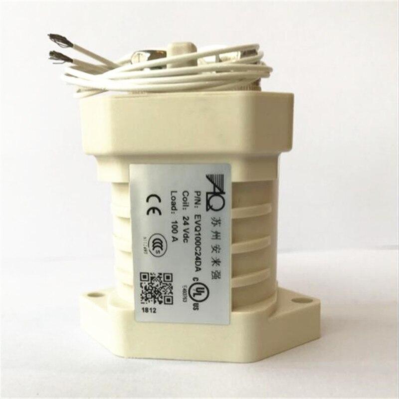 Nouveau relais à courant continu haute puissance et haute tension 24 V relais EVQ100C24DA EVQ-100C24DA DC24V 24VDC 100A