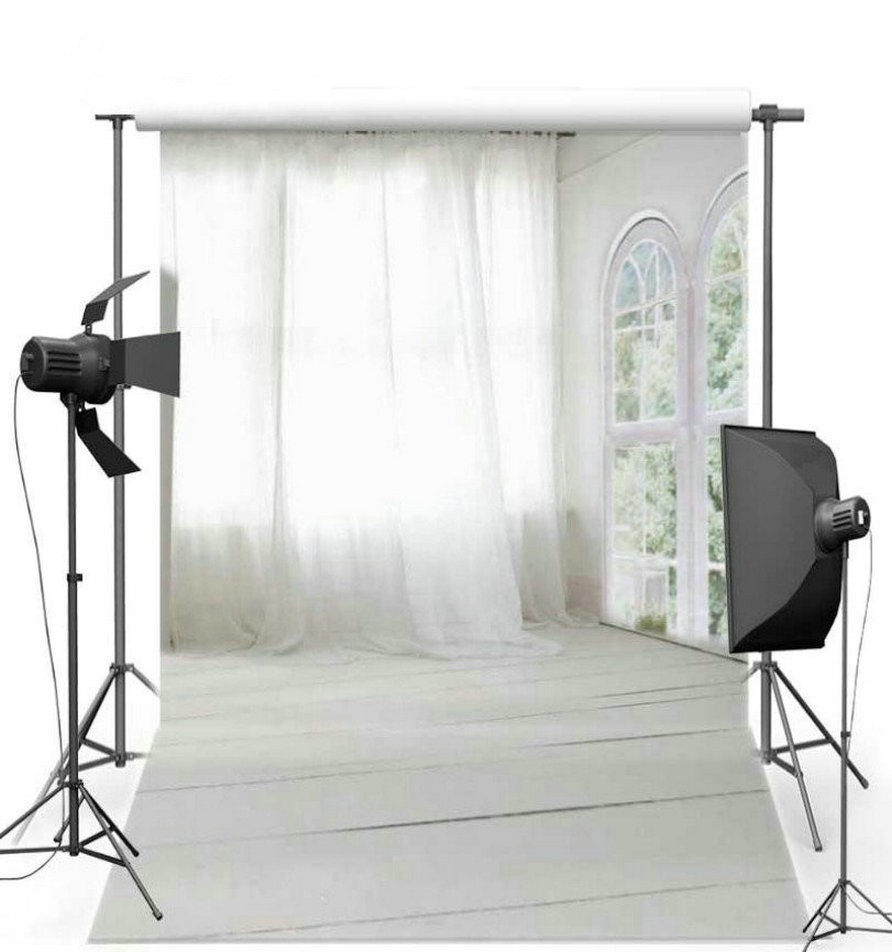 Tulle Arch Window Scene White Curtains Photography Backgrounds Vinyl cloth High quality Computer Print wedding backdrops antec gx330 window white high компьютерный корпус
