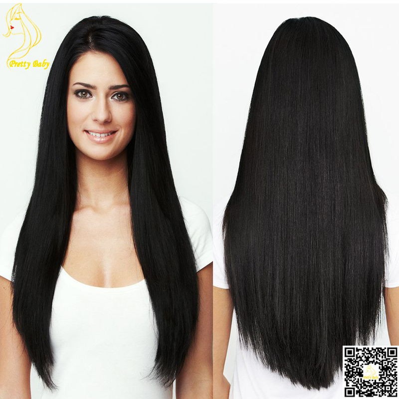 Unprocessed Virgin Peruvian Silky Straight U Part Wigs