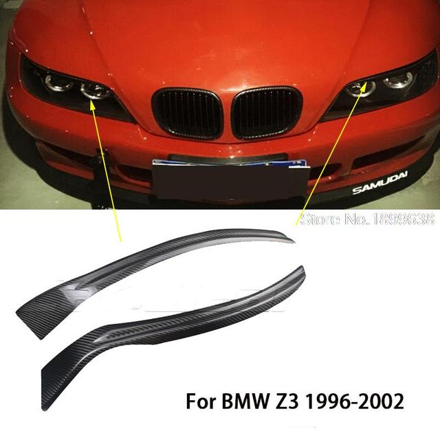 Bmw Z3 Weight: 100% Real Carbon Fiber Headlights Eyebrows Eyelids For BMW