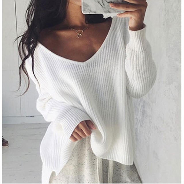 37a75b6d08 Sexy off shoulder sweater Women white black knitted women sweaters and  pullovers Autumn winter 2018 jumper pull femme hiver