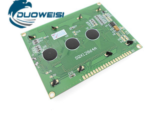 Image 3 - 12864A LCD yellow green /blue /gray /black VA screen parallel port serial port
