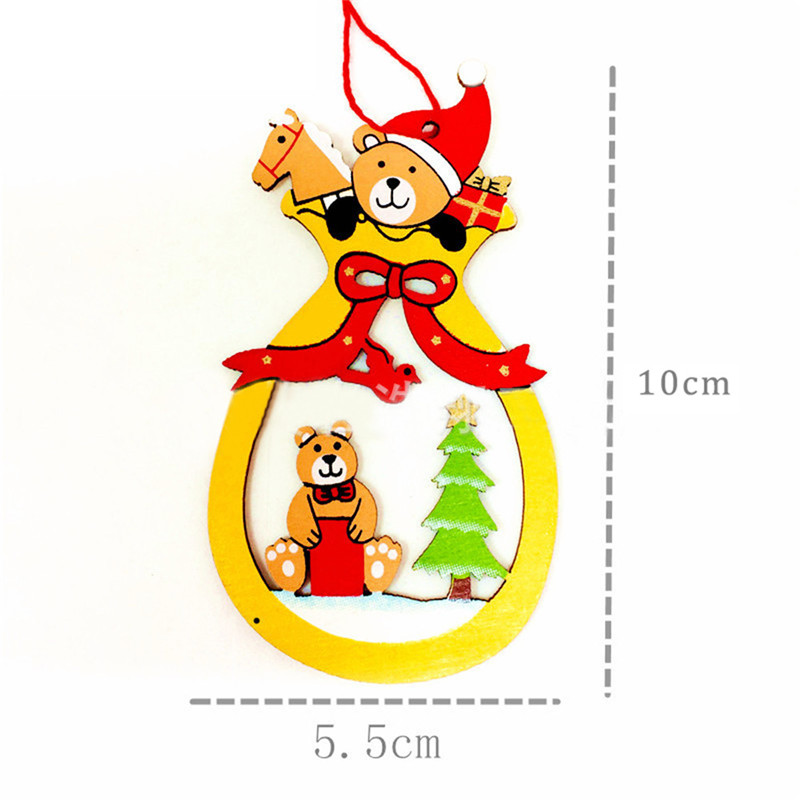 aliexpresscom buy 10 pcs merry christmas decorations for home baubles wooden christmas tree free standing xmas art new year suppies ornament from