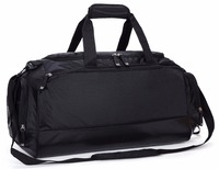 MIER Gym Bag With Shoe Compartment Men Travel Sports Duffel 24 Inch Black