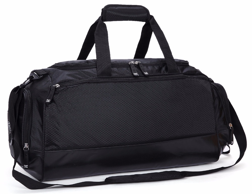 MIER Gym Bag with Shoe Compartment Men Travel Sports Duffel, 24 inch, Black temena large capacity outdoor sports bag for men new brand pu tote duffel bag multifunction travel sports gym fitness bag ac12