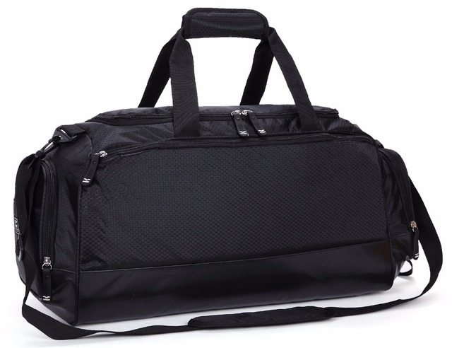 0b333e1a8 MIER Gym Bag with Shoe Compartment Men Travel Sports Duffel, 24 inch, Black