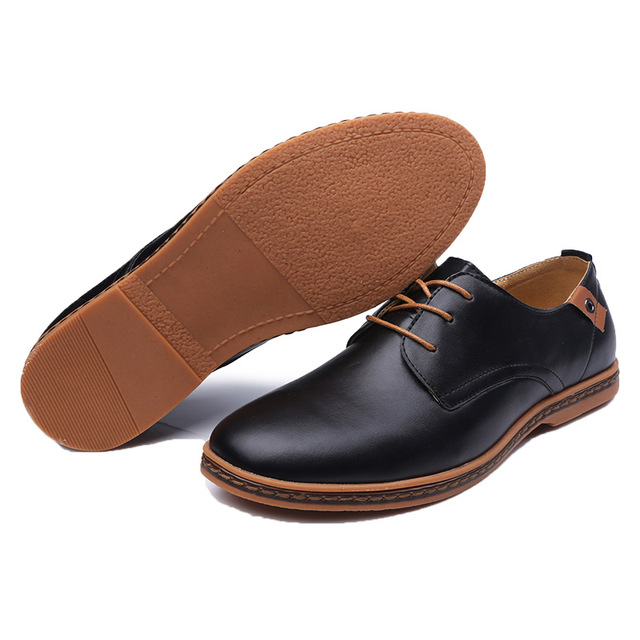 ROXDIA New Fashion Spring Autumn Men Flats Lace-up Casual Waterproof Shoes