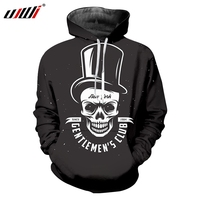 UJWI 3D Printed Hat Skulls Men's Hoodies High Quality Fitness Clothing The New Listing Man Pullover Large Size Hipster 5XL