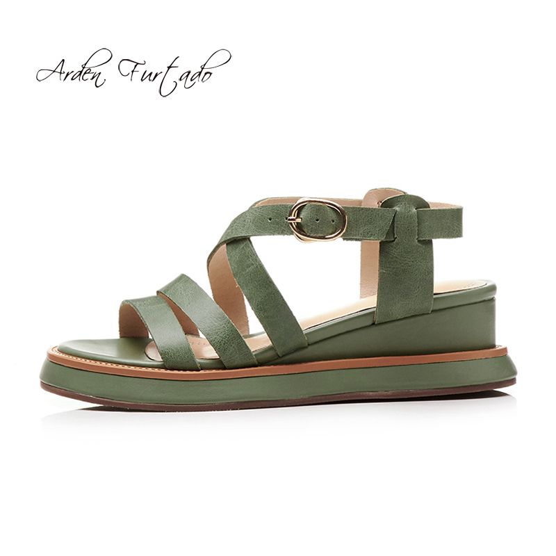 Plate Chaussures green Med Pink Plat De Sandales brown Femmes Cm Mode 5 Arden Cales Furtado forme Femme 2018 Casual Gladiateur Rome Pour D'été Talons B1PUfq