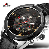 Relogio Masculino TEVISE Watches Men Brand Luxury Leather Mechanical Watch Men S Fashion Casual Sport Clock