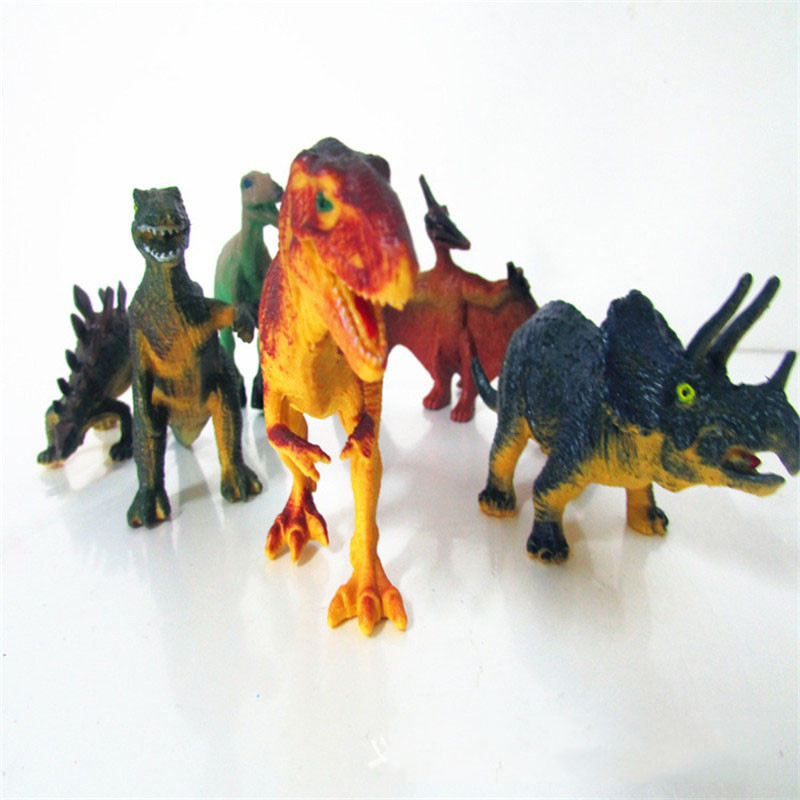 6Pcs/Set  Dinosaur Toys Model Anime Kid Chirstmas gift  Action Figure  Model Dinosaur Toy Figure Model Assembly Puzzle Toy cmt cmt datong super mario shf action figure toy sh figuarts mario model with accessories set action figure