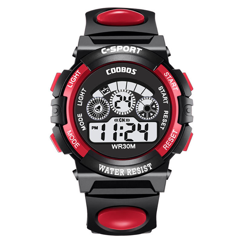 Watch Sport-Wristband Digital Light Strap Multi-Function Fashion Colorful Cool Boy Popular