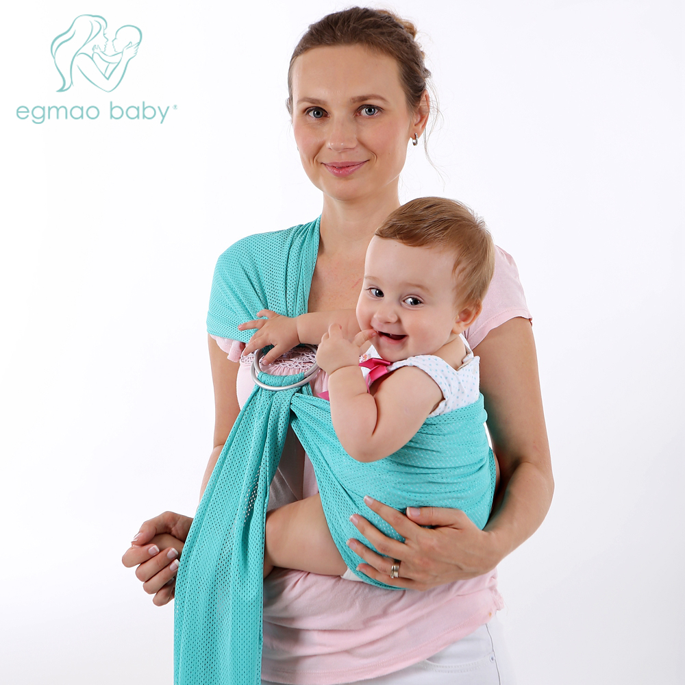 A ring Net Cloth Backing Towel Comfortable Sling Soft  Carrier Baby Backpack Breathable Cotton Hands free Baby Swaddle Wrap|carrier baby|baby wrap|baby carrier sling wrap - title=