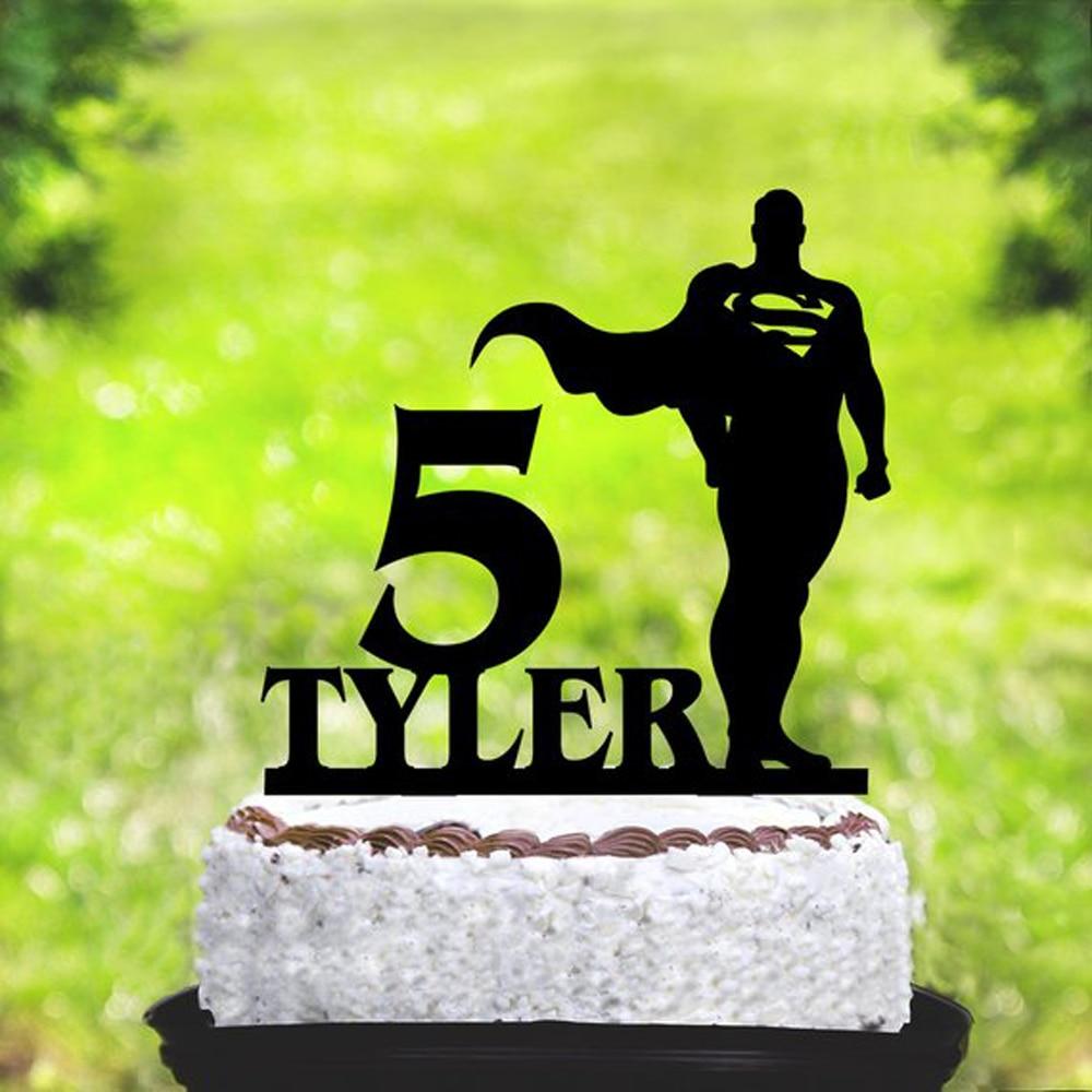 Custom name Superman Birthday Cake Topper,Superman Party ...