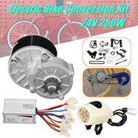 24V 250W Motor Speed Control Switch Electric Bike Kit Electric Bicycle Conversion Kit for Ordinary Common Electric Bicycle