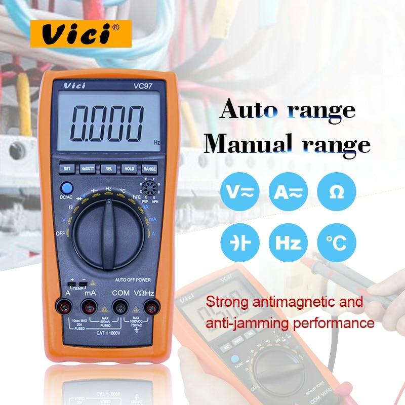 Hot Sale Vici Vc97 Auto Range Digital Multimeter Voltmeter Ammeter