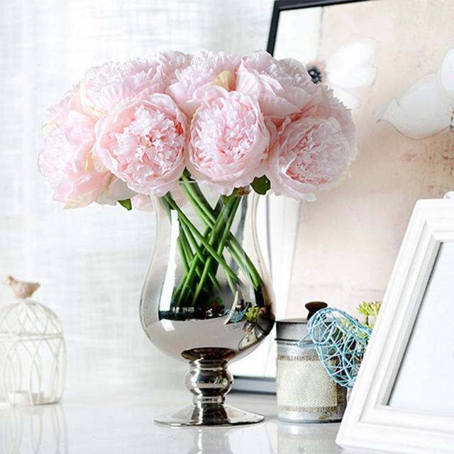 Handmade Peony Silk Flower Bridal Hydrangea Home Wedding Garden ...