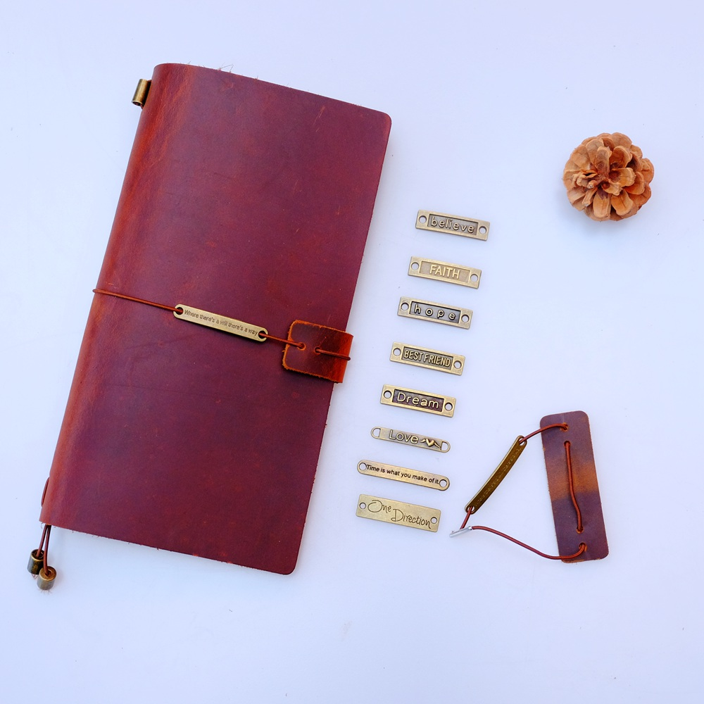 Genuine Leather Notebook Closer Protective Leather Piece New With Repair Rubber Band For Handmade Travel Journal Accessories