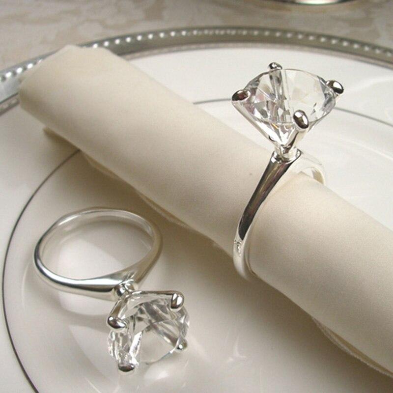 50 unids / lote moda diamante boda Rhinestone servilletero banquete - Para fiestas y celebraciones - foto 2