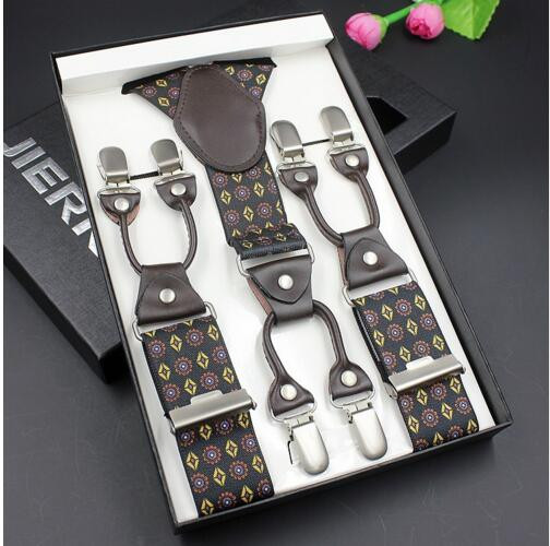 Fashion vintage casual shirt stays suspenders commercial western-style trousers man's braces strap garter belts for men