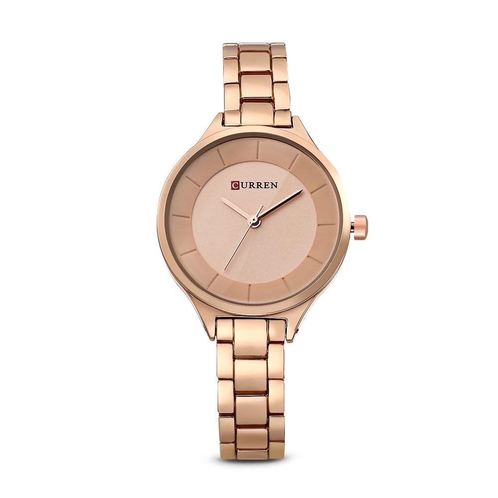 CURREN 9015 Reloj de Oro Rosa Mujer Señoras Creativas Mujeres de Acero  Pulsera Relojes Reloj Mujer Relogio Feminino Montre Femme en Relojes de  cuarzo de ... 5e5115ac0622