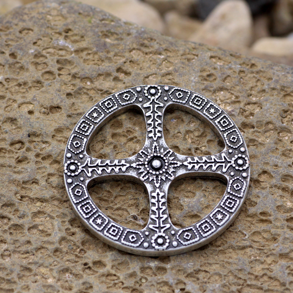 Sun cross pendant norse amulet wheel of life celtic necklace in aeproducttsubject aloadofball
