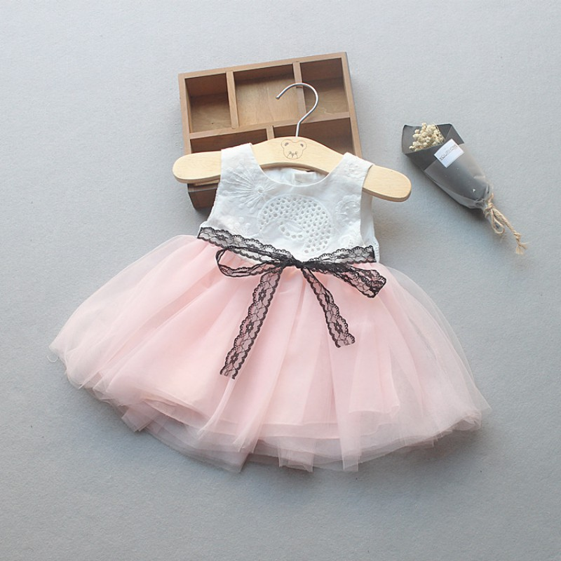 Fashion Girls Summer Cotton Party Dresses Explosions Baby Lace Embroidered Princess Party Dress 2016 summer fashion dresses of the girls beautiful female baby lace dress can be customized factory price direct selling