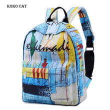 Fashion Graffiti Multicolor Printing Women PVC Backpack School Bags for Teenage Girls Lady Travel Backpacks Mochila Feminina