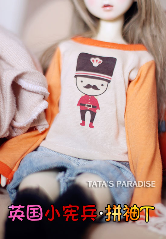 Fashion T-shirt  For BJD 1/6 YOSD, 1/4 MSD,1/3,SD17, Uncle Doll Clothes Accessories 1 6 yosd bjd sd doll accessories bjd clothes overalls