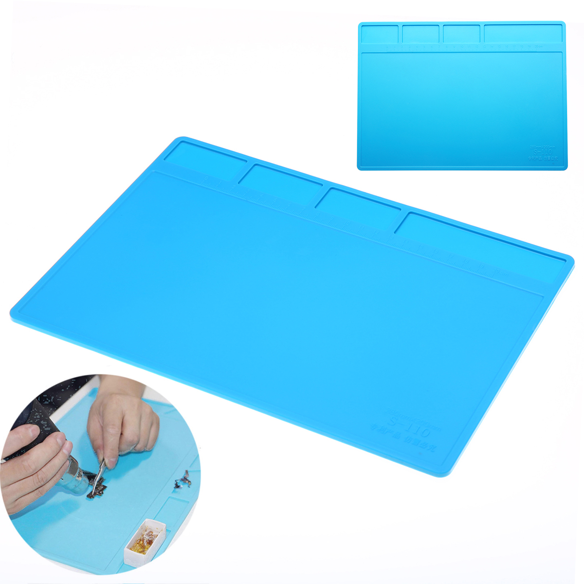 1pc New Soldering Repair Maintenance Platform Heat Insulation Silicone Pad Mat 28*20 Cm Anti-corrosion Soldering Pad Desk