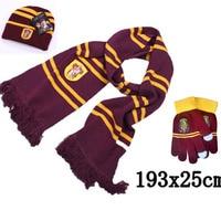 Harri Potter Scarf Scarves Hat Touch Gloves Gryffindor Slytherin Hufflepuff Ravenclaw Scarves Hat Touch Gloves Harri