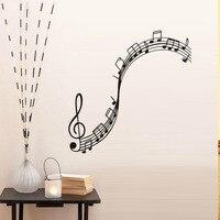 תווי נגינה מדבקות קיר חדר ילדים נשלפים ויניל מדבקות קיר בית תפאורה תו מוסיקת מוסיקה דקורטיבי חדר שינה משלוח חינם
