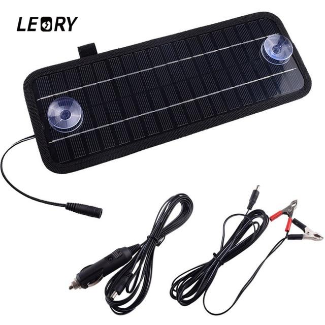 LEORY Горячая 12 В 4,5 Вт Панели солнечные Портативный монокристаллический Солнечный Зарядное устройство модуль для автомобиля Автомобиль Лодка Перезаряжаемые Мощность Батарея