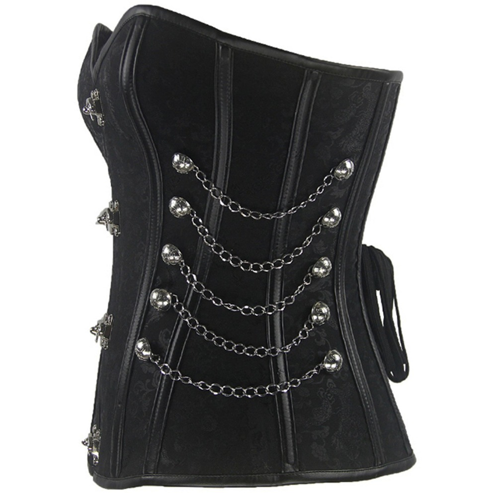 New-Fashion-Women-Black-Color-Shaper-wear-Plus-Size-XXL-Leather-Sexy-Hollow-Out-Body-Shaper (1)