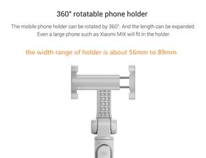 Image 5 - Original Xiaomi Selfie Stick Foldable Tripod Bluetooth Selfiestick With Wireless Shutter Selfie Stick For iPhone Android Xiaomi