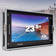 """Free ship LILLIPUT 23.8 """"3840*2160 3G 4 K Ultra HD Monitor de SDI Carry-on Monitor de Transmissão SDI HDMI TALLY para Filme da câmera de Vídeo"""