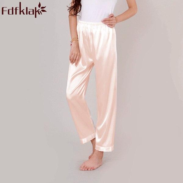 41d11031e Home Pajama Pants 2017 Spring Summer New Faux Silk Women's Pajama Bottoms  Pyjama Trousers Lounge Pants Plus Size S-XXXL Q336