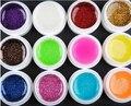 Одна часть 12 Цвет Вспышки порошок Блеск УФ Ногтей Гелем Акриловые стайлинг ногтей инструменты макияж лак для ногтей гелем ногтей M670